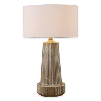 Uttermost Delmona Fluted Mercury Glass Table Lamp