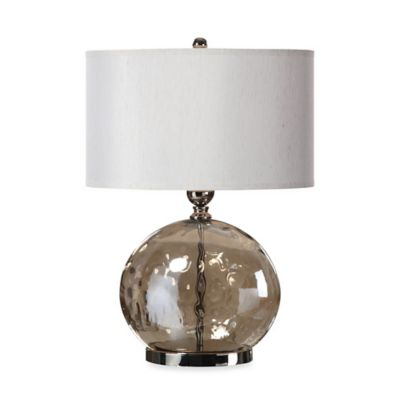 Uttermost Piadena Polished Nickel Glass Table Lamp
