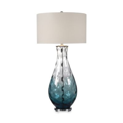 Uttermost Vescovato Blue Water Glass Table Lamp