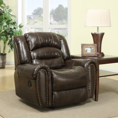 Pulaski Oxford Rocker Recliner in Darby Chocolate