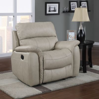 Pulaski Brinkley Glider Recliner in Bone