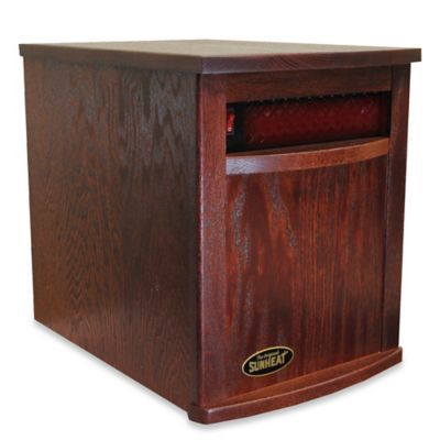The Original Sunheat Electric Infrared Heater in Mahogany