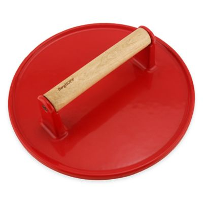 BergHOFF® Round Cast Iron Steak Press in Red