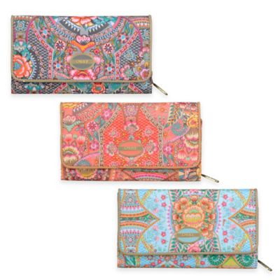 Oilily® Fun Paisley Large Wallet in Coral