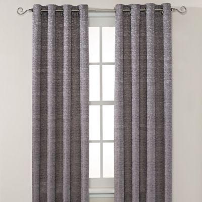 Montclair 95-Inch Grommet Top Window Curtain Panel in Grey