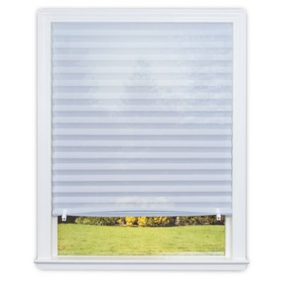Redi Shade Sheer View™ Cordless UV-Blocking 36-Inch x 72-Inch Solar Pleated Shade in White