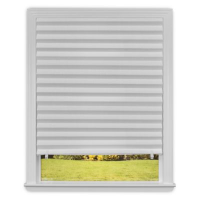 Redi Shade 36-Inch x 90-Inch Cordless Light-Filtering Paper Window Shade in White