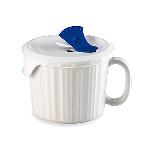 CorningWare® 20-Ounce Mug with Venting Plastic Cover