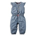 carter's® Size 6M Flutter Sleeve Coverall with Floral Accents in Chambray