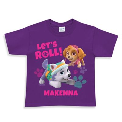 "Nickelodeon™ Size 3T ""PAW Patrol"" Skye and Everest ""Let's Roll"" T-Shirt in Purple"