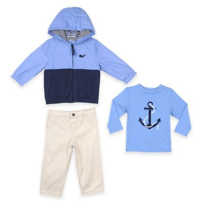 Little Me® Size 2T 3-Piece Whale Jacket, Shirt, and Pant Set in Blue