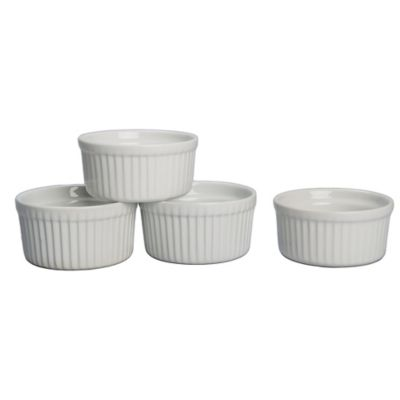Porcelain Ramek in Bowls in Set of Four