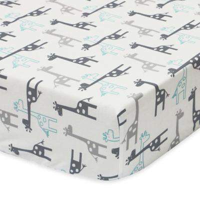 Crib Sheets > The Peanut Shell® Uptown Giraffe Fitted Crib Sheet