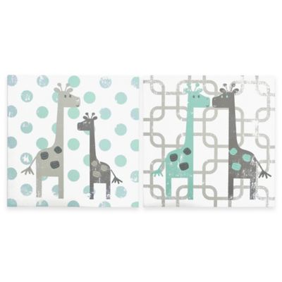 The Peanut Shell® Uptown Giraffe Canvas Wall Art (Set of 2)