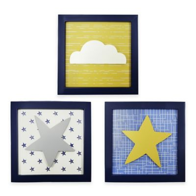 The Peanut Shell® Stargazer Canvas Wall Art (Set of 3)