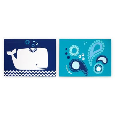 Happy Chic Baby by Jonathan Adler Party Whale 2-Piece Canvas Wall Decor Set