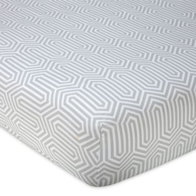 Happy Chic Baby by Jonathan Adler Safari Giraffe Fitted Crib Sheet