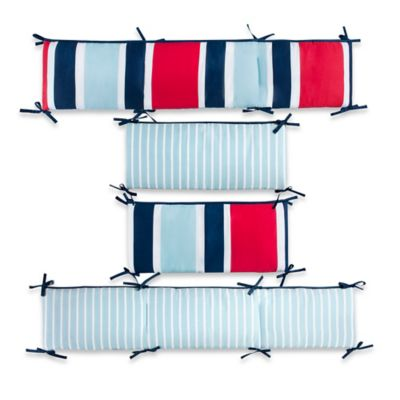 CoCaLo® Mix & Match Connor Reversible Stripe 4-Piece Crib Bumper Set