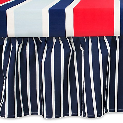 Buy Cocalo 174 Mix Amp Match Connor Ruffle Stripe Crib Skirt In