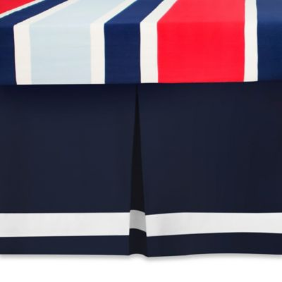 CoCaLo® Mix & Match Connor Pleated Crib Skirt in Navy