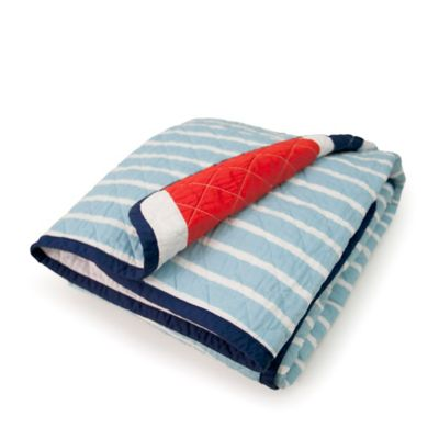 Navy Blue Stripe Bedding