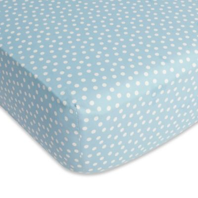 CoCaLo® Julian Mix & Match Dottie Fitted Sheet in Aqua