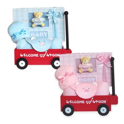 Welcome Wagon Baby Gift in Pink