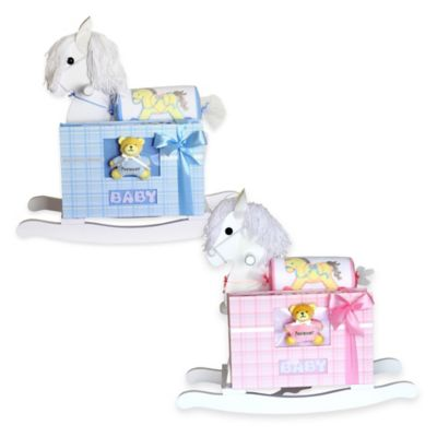 Silly Phillie® Creations Keepsake Rocking Horse Baby Gift Set in Blue