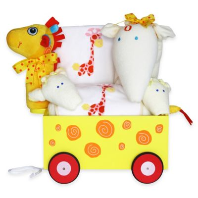 Silly Phillie® Creations Giraffe Wagon Gift Set for Girl Twins