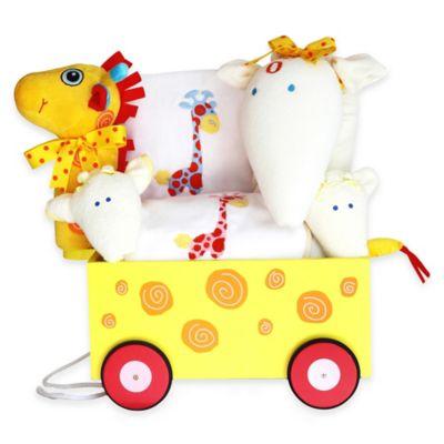 Silly Phillie® Creations Giraffe Wagon Gift Set for Boy/Girl Twins