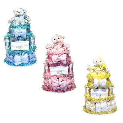 Silly Phillie™ Sweet Diaper Cake Baby Gift in Yellow
