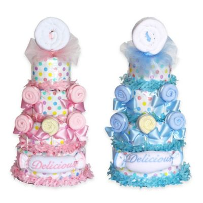 Silly Phillie™ Delicious Lollipop Diaper Cake Baby Gift in Blue