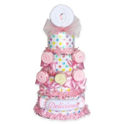 Silly Phillie™ Delicious Lollipop Diaper Cake Baby Gift in Pink