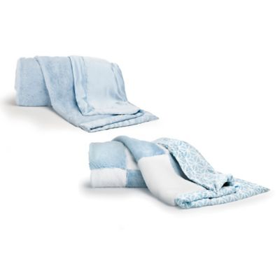 CoCaLo® Mix & Match Faux Fur Blanket in Aqua