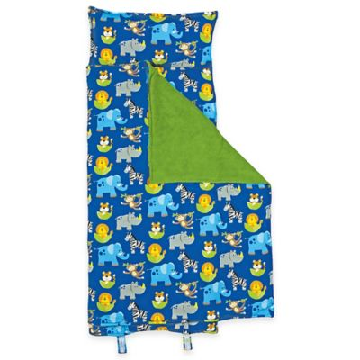 Stephen Joseph Allover Zoo Print Nap Mat in Blue/Green