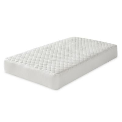 Greenbuds Organic Cotton Crib Mattress Pad with Pure Wool Fill