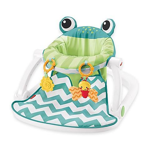 Fisher Price 174 Deluxe Sit Me Up Frog Floor Seat In Citrus