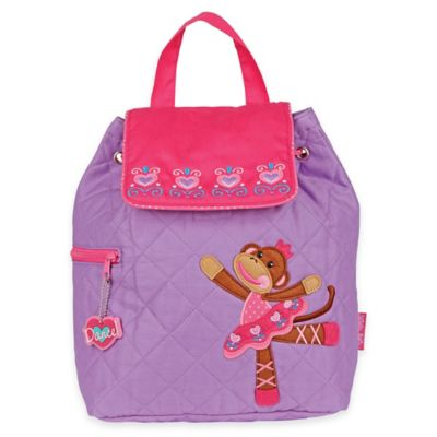 Stephen Joseph Ballet Monkey Quilted Backpack in Pink