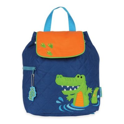 Stephen Joseph Alligator Quilted Backpack in Blue