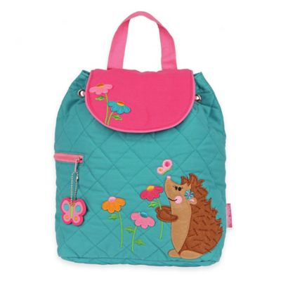 Stephen Joseph Hedgehog Quilted Backpack in Turquoise