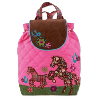 Stephen Joseph Horse Signature Collection Backpack in Pink