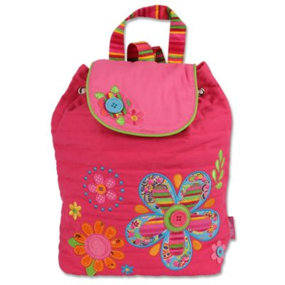 Stephen Joseph Flower Signature Collection Backpack in Pink