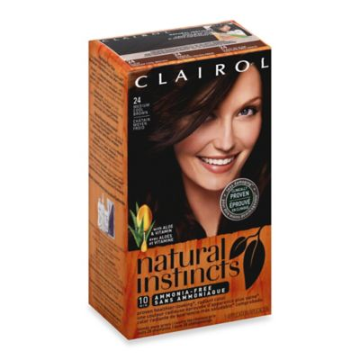 Clairol® Natural Instincts Ammonia-Free Semi-Permanent Color in 24 Clove/Medium Cool Brown