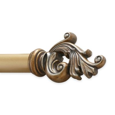 Croscill® Prometheus 28-Inch - 48-Inch Adjustable Rod in Gold