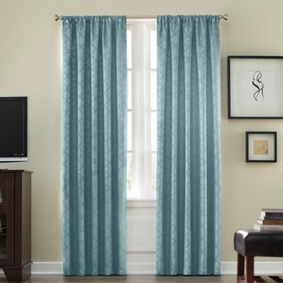 Athena Rod Pocket Blackout 95-Inch Window Curtain Panel in Black