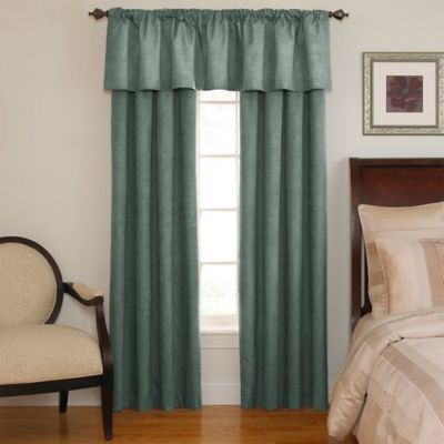 Sound Asleep™ Room Darkening Back Tab Window Valance in Black