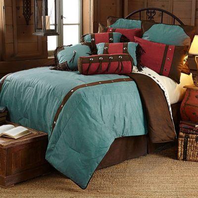 HiEnd Accents Cheyenne 7-Piece Queen Comforter Set in Turquoise