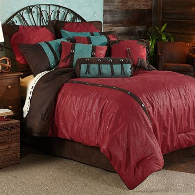 HiEnd Accents Cheyenne 5-Piece Twin Comforter Set in Red