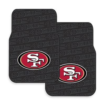 NFL San Francisco 49ers Rubber Car Mats (Set of 2)