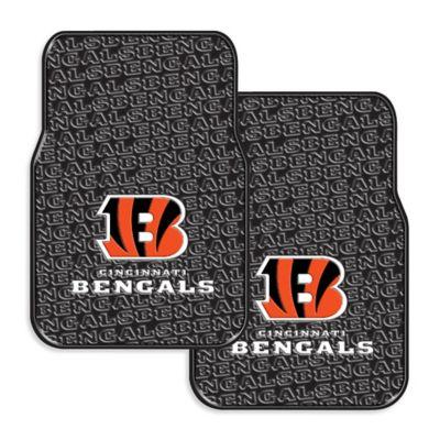 NFL Cincinnati Bengals Rubber Car Mats (Set of 2)